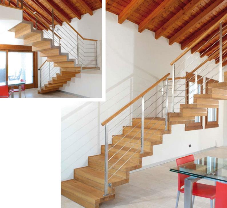 Scala da interno struttura scala da rivestire in legno for Rivestire una scala in legno
